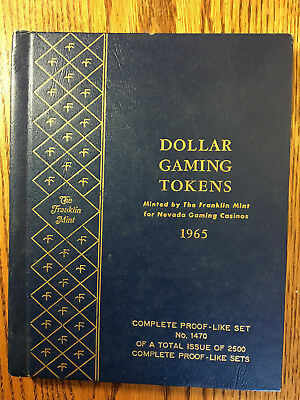 1965 NEVADA DOLLAR GAMING TOKENS LTD. ED BY FRANKLIN MINT 27 ct TOKENS no. 1470