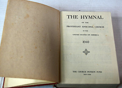 Antique 1943 Religious Christian Book The Hymnal Protestant Episcopal Church USA