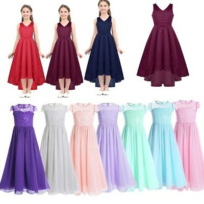 Flower Girl Dress Party Wedding Bridesmaid Pageant Communion Princess Gown Prom