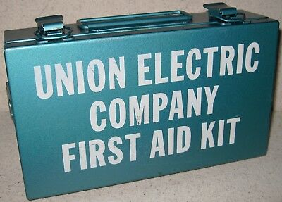 Vintage Union Electric Company First Aid Kit Box Water Proof Heavy Duty