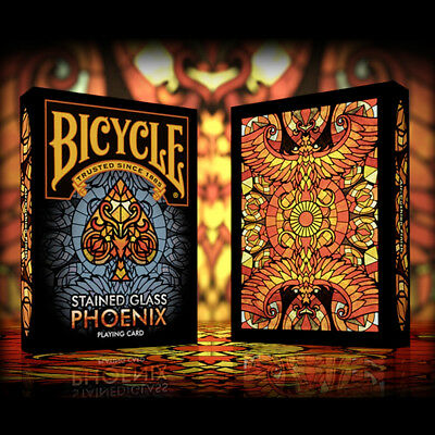 Mazzo di carte Bicycle - Stained Glass Phoenix Playing Cards