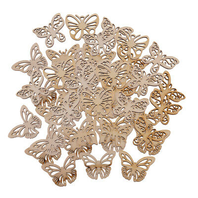 50x Wooden Butterfly Shape MDF Cut, Craft, Tags, Embellishments, Decoration