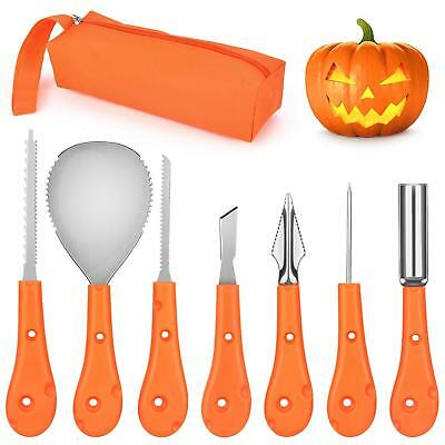 Professional Pumpkin Carving Kit,7 PCS Victostar Reusable Sturdy Stainless Steel