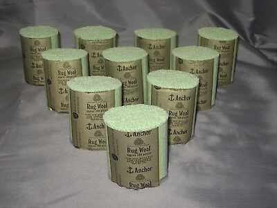 10 packs Anchor mint green #901 6-ply rug wool,formerly Readicut/Homemakers.