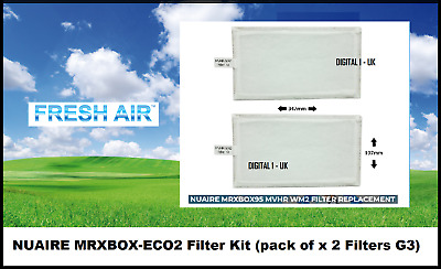 NUAIRE MRXBOX-ECO2 Replacement Filter Kit (pack of x 2 Filters G3)
