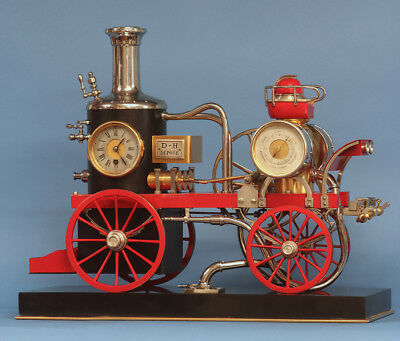Early 20th Century Animated Fire Engine Clock