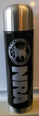 NRA Stainless Bullet Shaped Thermos Coffee Mug National Rifle Association Nice!