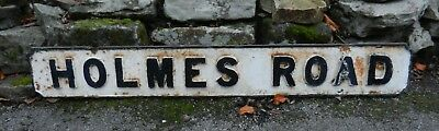 Victorian Cast Iron Street Sign - Holmes Road - Good Order