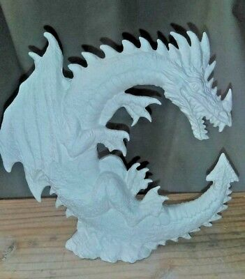 Moon DRAGON 7.25 INCH TALL Animal READY TO PAINT CERAMIC BISQUE