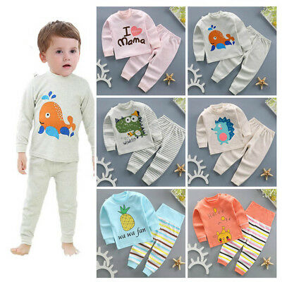 2pcs baby boy girl clothes sleepwear baby home-wear kids pajamas outfits set