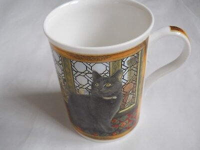 Lesley Anne Ivory Cat Mug Fine Bone China Crown Trent China Ltd England