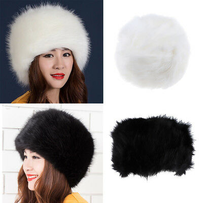 43004fa570b 2pcs Winter Warm Cossack Hat Russian Style Ski Cap Earmuff Soft Fake Fur Hat