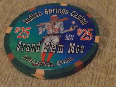 INDIAN SPRINGS HOTEL CASINO $25 Hotel gaming chip (LTD 200) ~ Indian Springs, NV