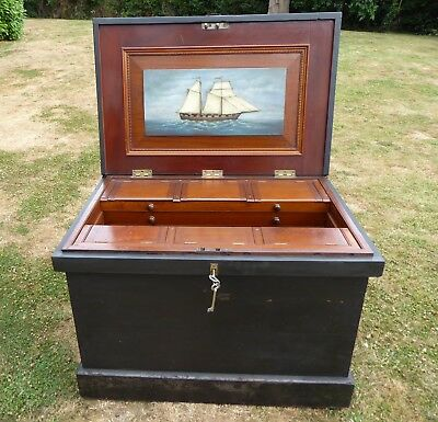 Superb Victorian Ship,s Fitted Toolbox With Some Tools  Free Shipping England