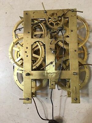 Antique Chauncey Jerome 8 Day Weight Driven Clock Movement Ogee Or Triple Decker