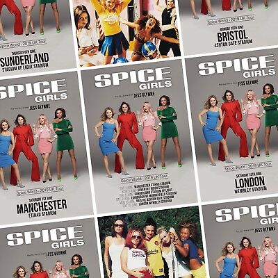 SPICE GIRLS Spice World 2019 UK Stadium Tour PHOTO Print POSTER Girl Power Art