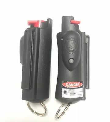 Guard Dog 2 PACK Accufire Keychain Pepper Spray with laser sight - Black