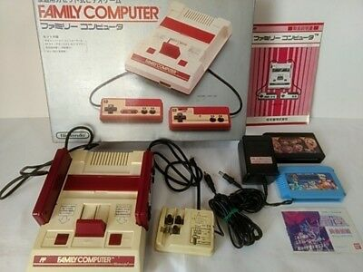 Nintendo Famicom NES HVC-001 Console,RF Switch,Manual,Boxed,2 Games set-Y11-