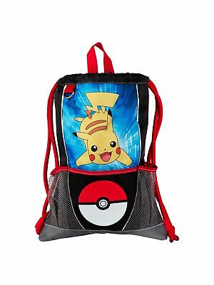 Kids Pokemon Pikachu Pokeball Sling Bag with Mesh Pockets - Heavy Duty