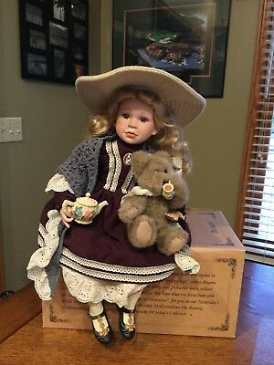 Boyds Yesterday's Child Doll Whitney With Wilson ...Tea Party NIB!