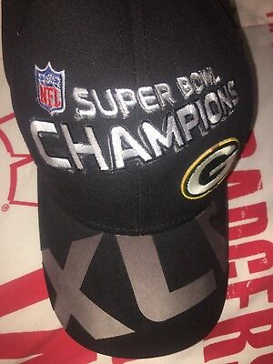 GREEN BAY PACKERS Super Bowl XLV 45 Champions Official NFL Reebok ... 1f4ae8c34