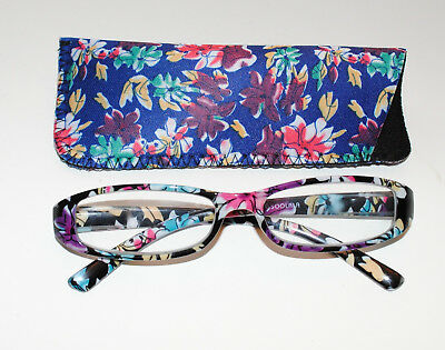 0d541d4c7f0 SOOLALA 2-PR Fashionable Spring Hinge Reading Glasses w  Matching Cases 2.0x