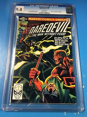 Daredevil #168 1981 CGC 9.4 White Pages 1st Appearance Elektra Frank Miller NM