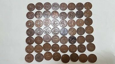 Great Britain (UK) Complete Set of 56 Half Pennies 1911 - 1967