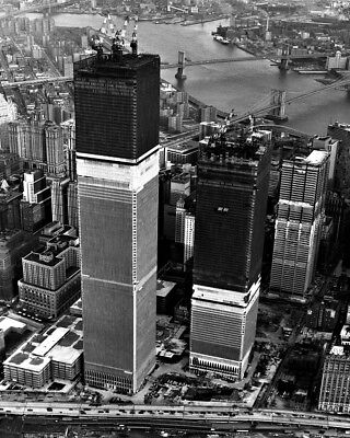 New 8x10 Photo: World Trade Center Twin Towers under Construction, New York City