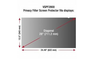 "ViewSonic 28"" Display Privacy Filter VSPF2800"