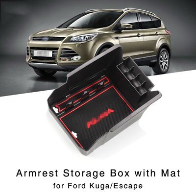 Armrest Storage Box for Ford Kuga Escape 2013-2015 Central Console Glove Tray