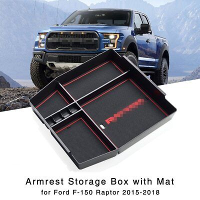 Armrest Storage Box for Ford F-150 Raptor 2015-2018 Central Console Glove Tray