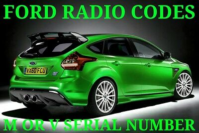 Ford Radio Code Service M Or V Serial Numbers Covered Quick Turnaround