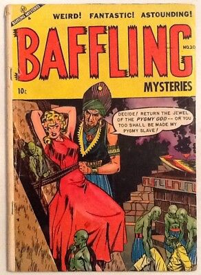 Baffling Mystery #20 GD/VG 3.0 Ace 1954 Classic Bondage Cover