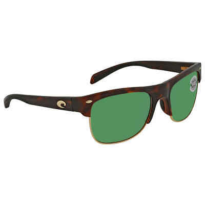 5876eba253d05 Costa Del Mar Pawleys Green Mirror Polarized Glass Large Fit Sunglasses PW  66