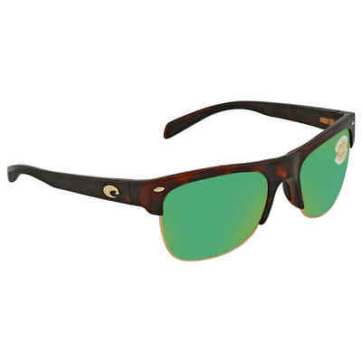42377df113 Costa Del Mar Pawleys Green Mirror Polarized Plastic Large Fit Sunglasses PW  66