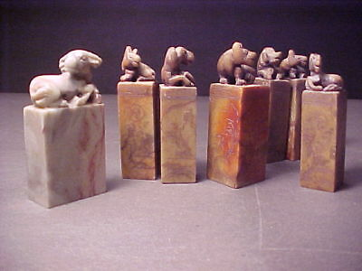 Chinese Soapstone Stamp / Seal - seven pieces