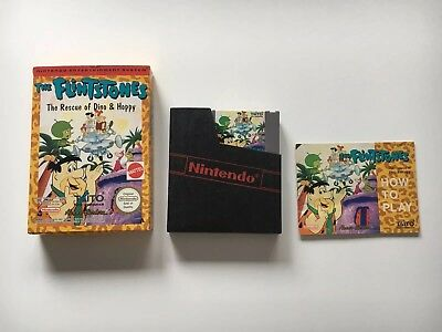 Flintstones Dino & Hoppy (Nintendo NES Game PAL) Cartridge, Box & Manual VGC!