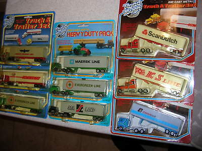 LOT of 9 MIP ROAD TOUGH HO Scale SEMI TRUCK & TRAILER RIGS..SEE PICTURES