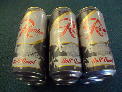 Brewery Collectible, Rainier Jubilee Beer Can, Winter Half Quart 6 Pack, 2018