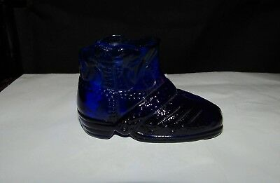 Collectable Small Royal Blue Glass Boot
