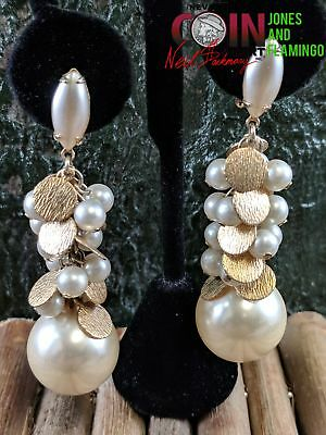Vtg Lewis Seqal Signed Costume Fashion Jewelry Pair Of Pierce Earrings #10993