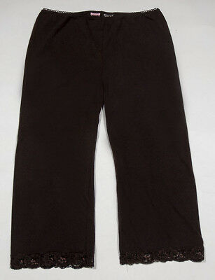 Copper Key Girls 16 Capri Cropped Leggings Brown  With Lace Trim