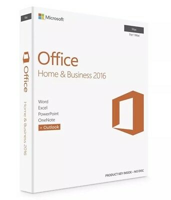 Microsoft Office Home and Business 2016 for Mac - 1 Mac - Key code