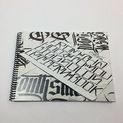 Bigg Solo - From The Hood to You Lettern Book - Tattoo Lettering Font Book
