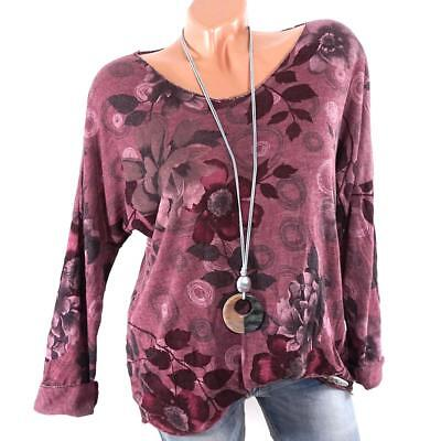 Womens Long Sleeve Solid Top Print Plain T Shirt Stretch Tight Round Neck Blouse