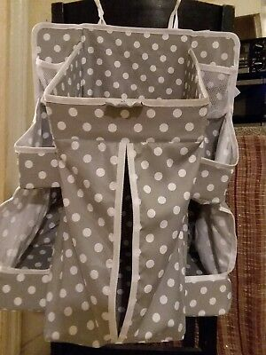 Nursery and Diaper Organizer for Hanging Baby Essentials on Crib Playard
