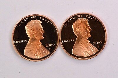 2 2009-S Proof Lincoln Cents  .99c NO RESERVE
