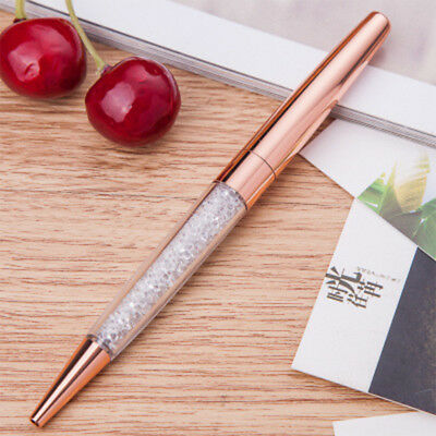 Rose Gold Crystalline Stardust Made With Crystals Ballpoint Pen UK NEW