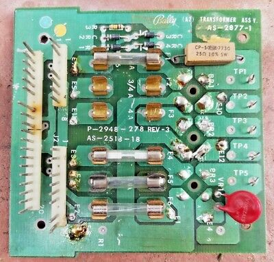 Authentic Original BALLY PINBALL ARCADE POWER SUPPLY AS-2877-1 Transformer Assy